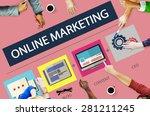 online marketing strategy... | Shutterstock . vector #281211245