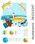 airport vector infrastructure... | Shutterstock .eps vector #281213147
