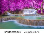waterfall in rain forest  tat... | Shutterstock . vector #281218571