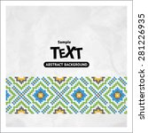 border decoration elements... | Shutterstock .eps vector #281226935