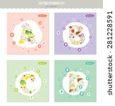 infographic set card of... | Shutterstock .eps vector #281228591