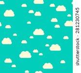 seamless pattern of sunlit... | Shutterstock .eps vector #281230745