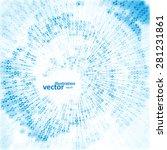 digital code background ...   Shutterstock .eps vector #281231861