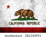 state of california grunge flag | Shutterstock . vector #281243951