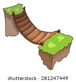 Small Wooden Bridge Vector...