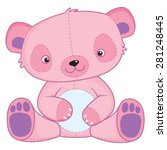 cute pink cartoon teddy bear  ... | Shutterstock .eps vector #281248445