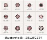 geometric logo template set.... | Shutterstock .eps vector #281252189