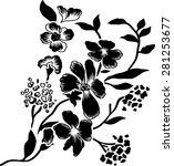 black flowers  vector ... | Shutterstock .eps vector #281253677