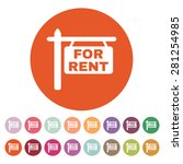 the for rent icon. rent symbol. ...