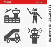 airport icons. professional ... | Shutterstock .eps vector #281256551