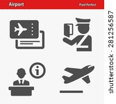 airport icons. professional ... | Shutterstock .eps vector #281256587