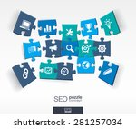 abstract seo background with... | Shutterstock .eps vector #281257034