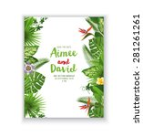 save the date card with... | Shutterstock .eps vector #281261261