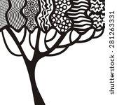 beautiful pattern tree vector...   Shutterstock .eps vector #281263331