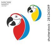 parrot. macaw. logo  | Shutterstock .eps vector #281263349
