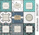 elegant frame on pattern set. | Shutterstock .eps vector #281275187