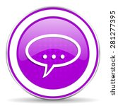 forum violet icon chat symbol... | Shutterstock . vector #281277395