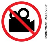 movie camera icon. red...