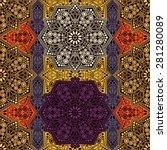 seamless pattern ethnic style.... | Shutterstock .eps vector #281280089