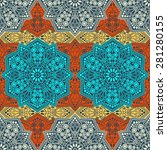 seamless pattern ethnic style.... | Shutterstock .eps vector #281280155