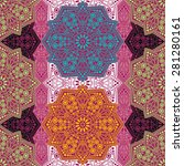 seamless pattern ethnic style.... | Shutterstock .eps vector #281280161