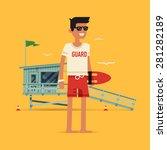 cool vector modern flat... | Shutterstock .eps vector #281282189