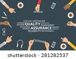 vector quality assurance... | Shutterstock .eps vector #281282537