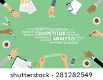 vector competitor analysis... | Shutterstock .eps vector #281282549