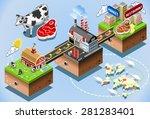 meet industry stages. beef... | Shutterstock .eps vector #281283401