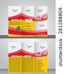 tri fold pizza brochure... | Shutterstock .eps vector #281288804