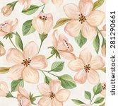floral seamless pattern.... | Shutterstock . vector #281290661