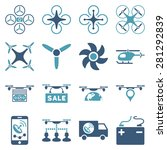drone service icon set designed ... | Shutterstock .eps vector #281292839