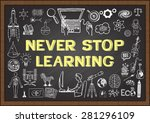business and education doodles... | Shutterstock .eps vector #281296109