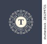 calligraphic monogram design... | Shutterstock .eps vector #281299721