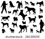 vector dog collection on a... | Shutterstock . vector #28130035