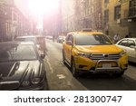Yellow Taxi Crossing Small...