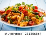 Pasta With Meat  Tomato Sauce...