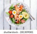 Smoked Salmon Salad With Green...