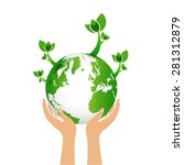 green earth eco concept | Shutterstock .eps vector #281312879