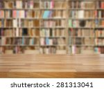 empty wooden table and modern... | Shutterstock . vector #281313041