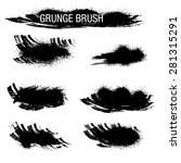 vector set of grunge brush... | Shutterstock .eps vector #281315291