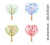 four trees appropriate to the... | Shutterstock .eps vector #281318264