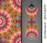 dress with seamless pattern.... | Shutterstock .eps vector #281318291