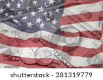 american flag  coins and...