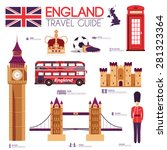 country england travel vacation ... | Shutterstock .eps vector #281323364