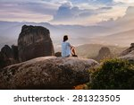 meteora monasteries on the... | Shutterstock . vector #281323505