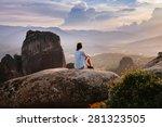 meteora monasteries on the... | Shutterstock . vector #281323505