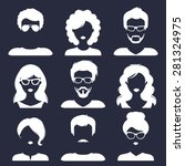 vector set of different male... | Shutterstock .eps vector #281324975
