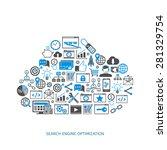 seo optimization icons. web... | Shutterstock .eps vector #281329754