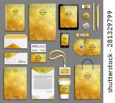 corporate identity template set.... | Shutterstock .eps vector #281329799